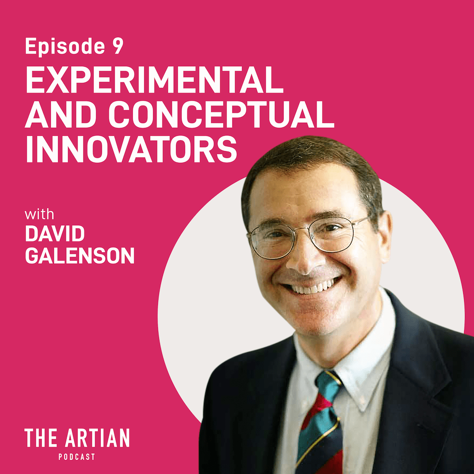episode 9 – conceptual and experimental innovators | David Galenson